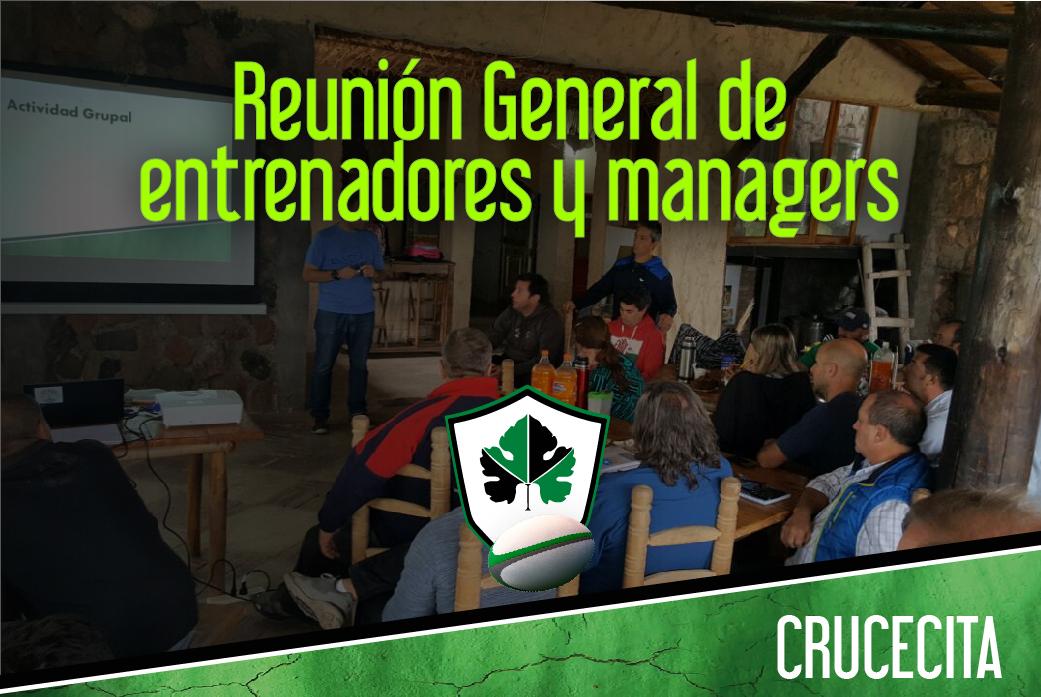 Reunión General de Entrenadores y manager